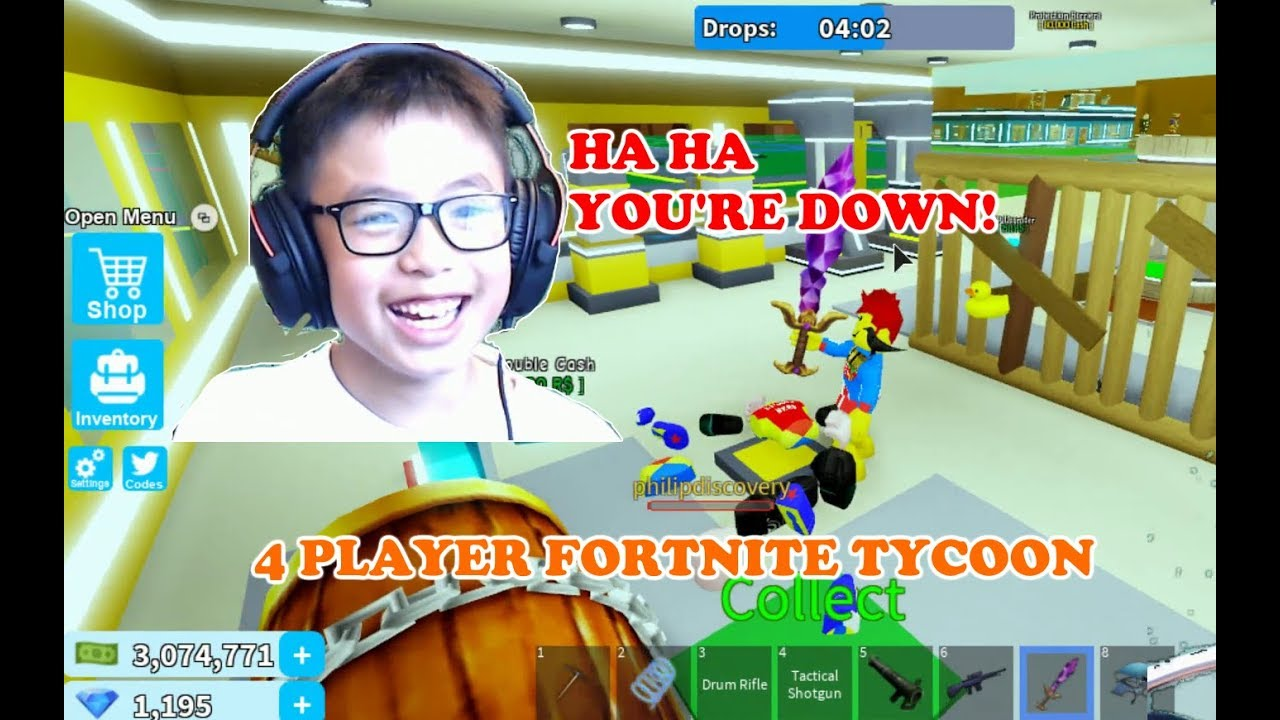 Roblox 4 Play Fortnite Tycoon Philip Vs Ben Even Though We Are In