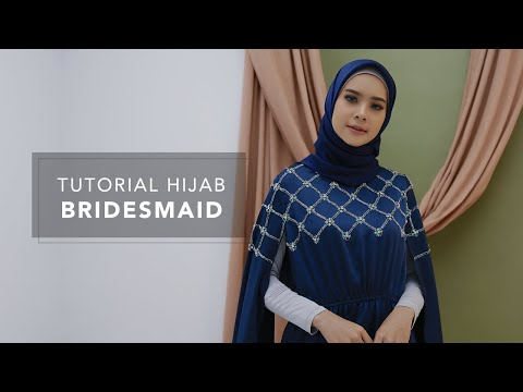 Tutorial Hijab Bridesmaid - YouTube