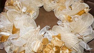 DIY: Simple Deco Mesh Wreath || Quick and Easy Tutorial