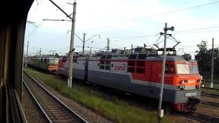 Станция Рыбное-Сортировочное Моск.жд с окна поезда №392У Москва — Челябинск