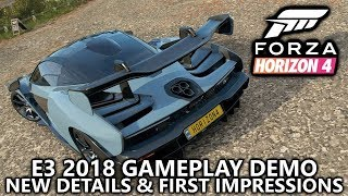 Forza Horizon 4 - Gameplay Demo + New Game Feature Details + First Impressions (in 4K) from E3 2018