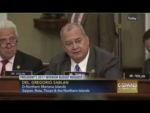 CSpan- Natural Resources Committee, DOI FY17 Budget.  A Voice for all Micronesians