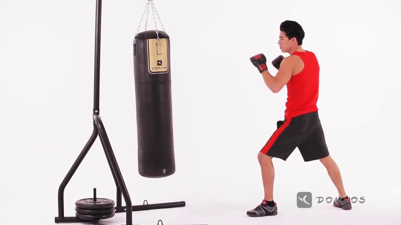 Exercice 1 Boxe coup de pied latéral Sac de frappe Domyos ...