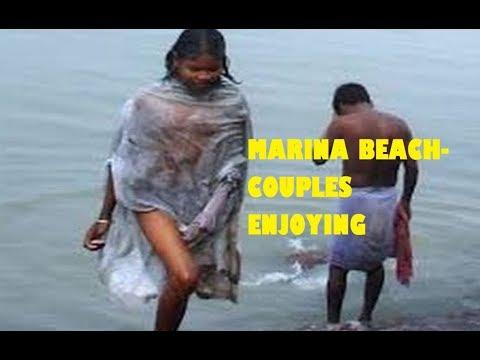 Open Holy Bath and Couples Enjoying at Wonders of Marina Beach, Chennai Indian Tour & Travel 2018