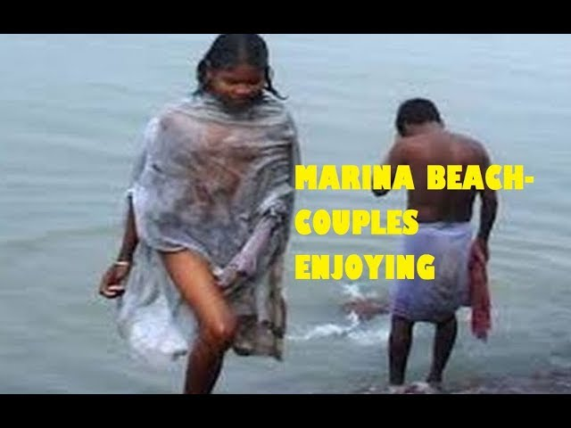 Open Holy Bath and Couples Enjoying at Wonders of Marina Beach, Chennai Indian Tour & Travel 2018