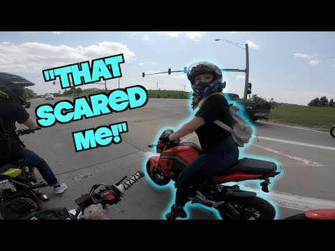 I TRIED Pushing HER Off The Grom! | My Next Bike? | Taking A Slingshot!