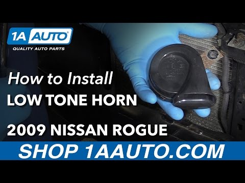 How to Install Replace Low Tone Horn 2009 Nissan Rogue