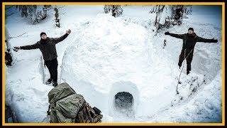 Overnighter/Übernachtung im Iglu? - Winter Bushcraft Biwak Overnighter mit Fritz Meinecke