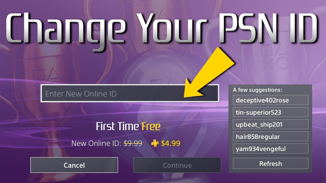Change Your PlayStation ID Fast | PSN ID Name Changes ...