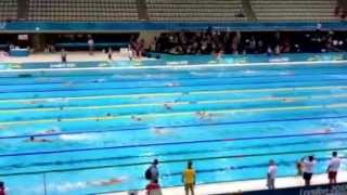 Competencia de Natación - Juegos Olímpicos Londres 2012 (Calentamiento)