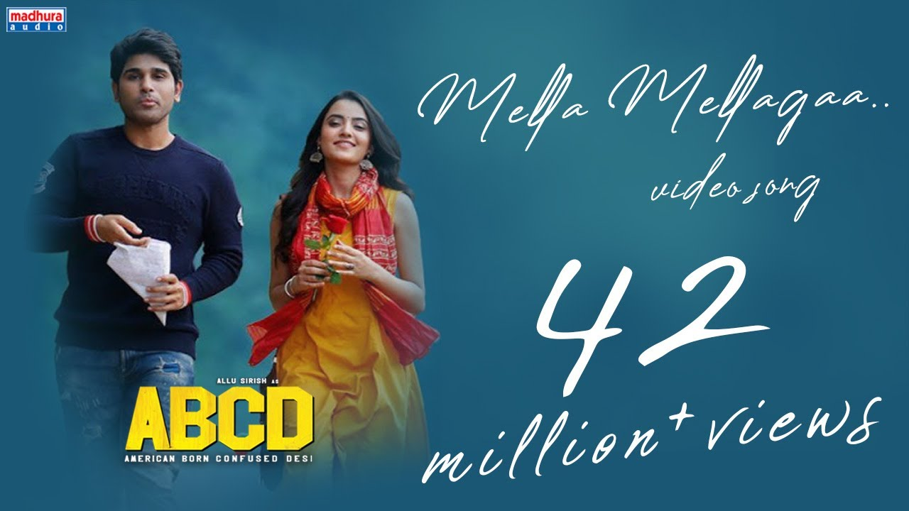 Mella Mellaga Full Video Song | ABCD Movie Songs | Allu Sirish | Rukshar  | Sid Sriram | Judah S