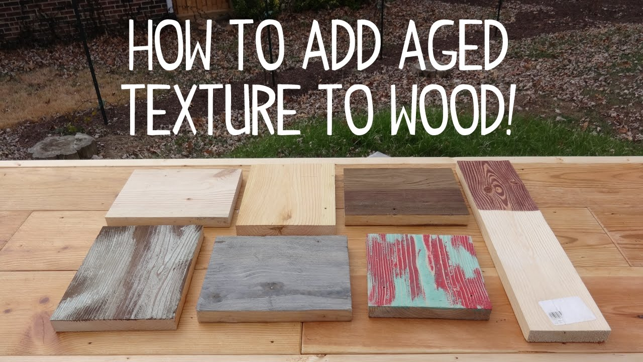 How To Make Wood Look Old Amp Weathered Texture Trick