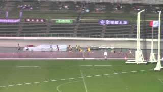 2015 西日本インカレ陸上 男子4×100mR 予選2