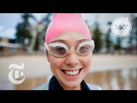 Sydney's Wake-Up Swim. Pink Cap Included. | The Daily 360 | The New York Times