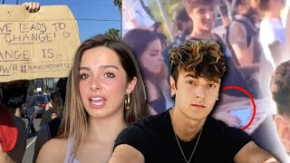 Addison Rae & Bryce Hall Protest Together! | Hollywire