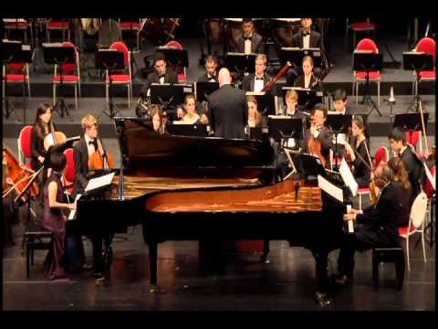 Mozart Concerto for 2 Pianos and Orchestra in E-flat major, K.365. Rolf-Peter Wille and Lina Yeh