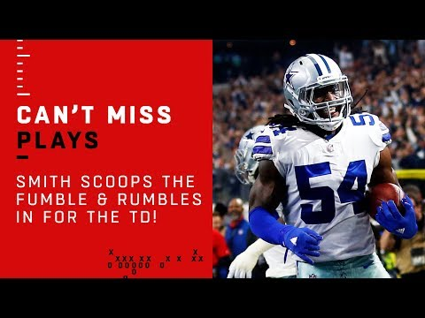 Cowboys LB Smith Scoops the Fumble & Rumbles in for the TD!