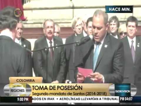 Santos asume segundo mandato decidido a lograr la paz en Colombia
