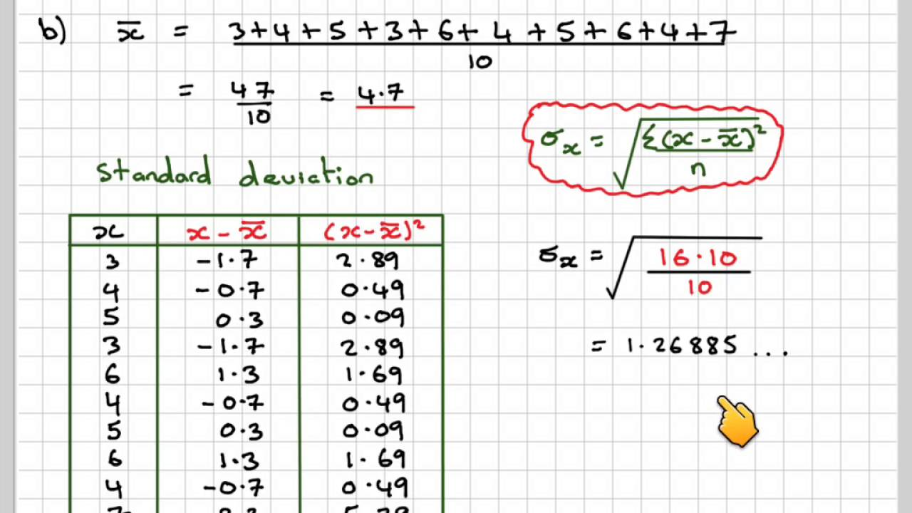 standard deviation and data Standard deviation is a statistical measurement of variation in a data set, or how far or how close the data as a whole is to the mean standard deviation is always measured in the units of the data set if a data set has a small standard deviation, it means that data as a whole is closer to the.