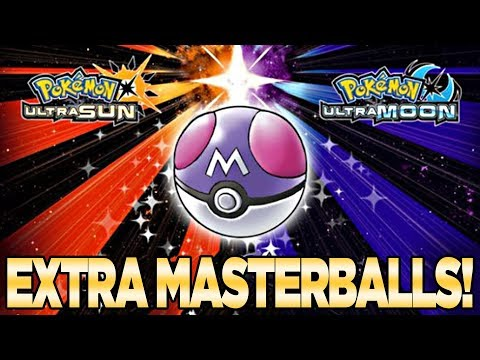Get FREE EXTRA Master Balls in Pokemon Ultra Sun and Moon Pokemon
