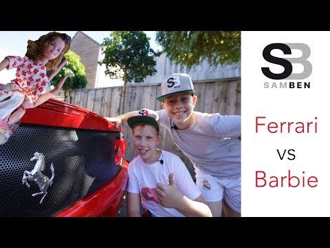 Ferrari vs Barbie !!! 4K !!! SAMBEN !!! Capristo Exhaust kills Barbie !!!
