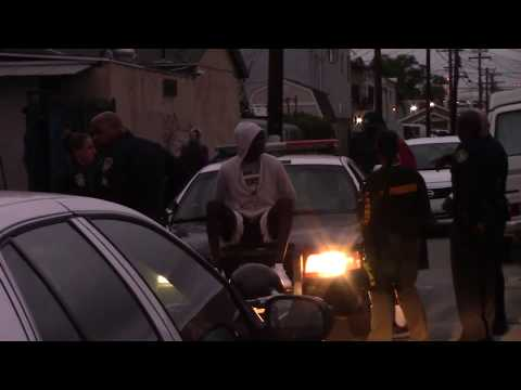 Copwatch | Vehicle Stop in Alley 3 Cuffed, Detained, Searched | No Crime