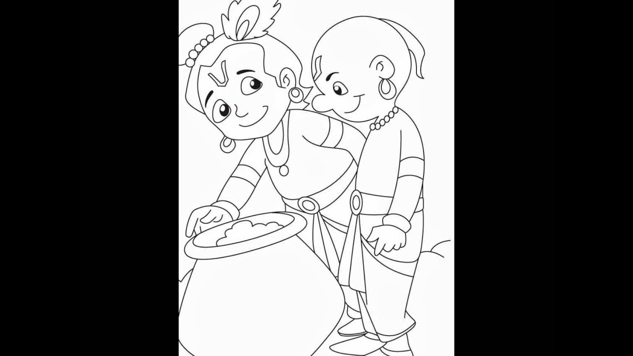 Krishna coloring pages by httpcoolfindzcom  YouTube