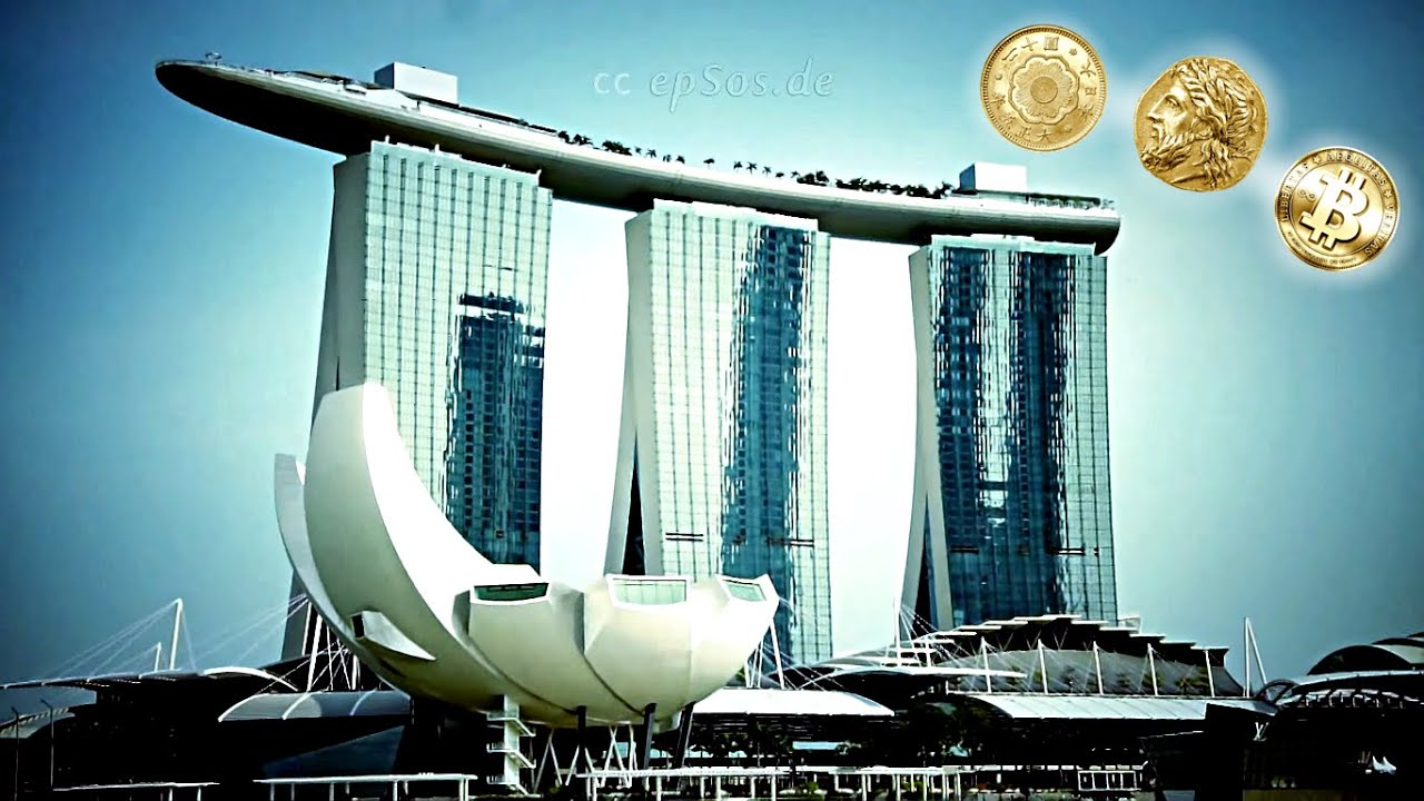 High skyscrapers of singapore marina bay youtube - Singapore tallest building swimming pool ...