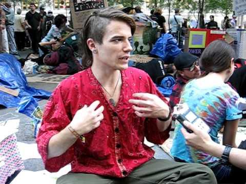 Hippie tries to explain.  Zucotti Sq.