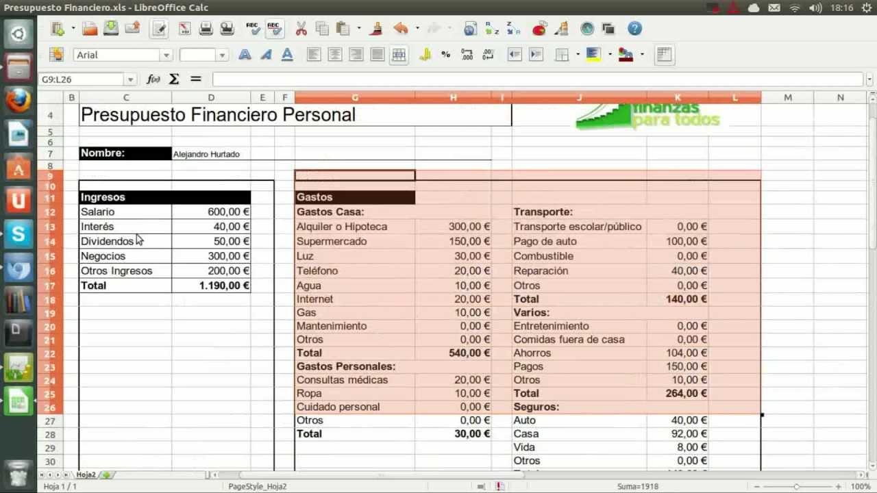Como hacer un presupuesto financiero youtube - Presupuesto para hacer un bano ...