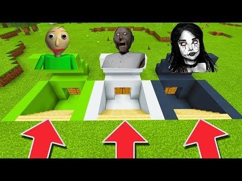 Minecraft PE : DO NOT CHOOSE THE WRONG SECRET BASE! (Momo, Baldi's Basics & Granny)