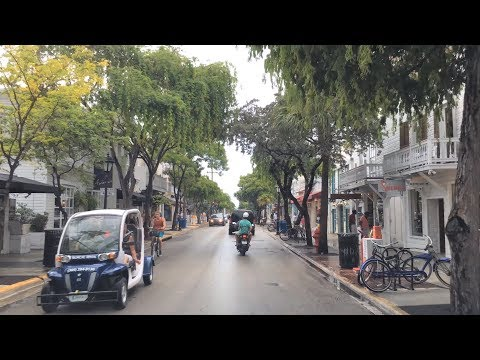 Driving Downtown - Key West USA 4K