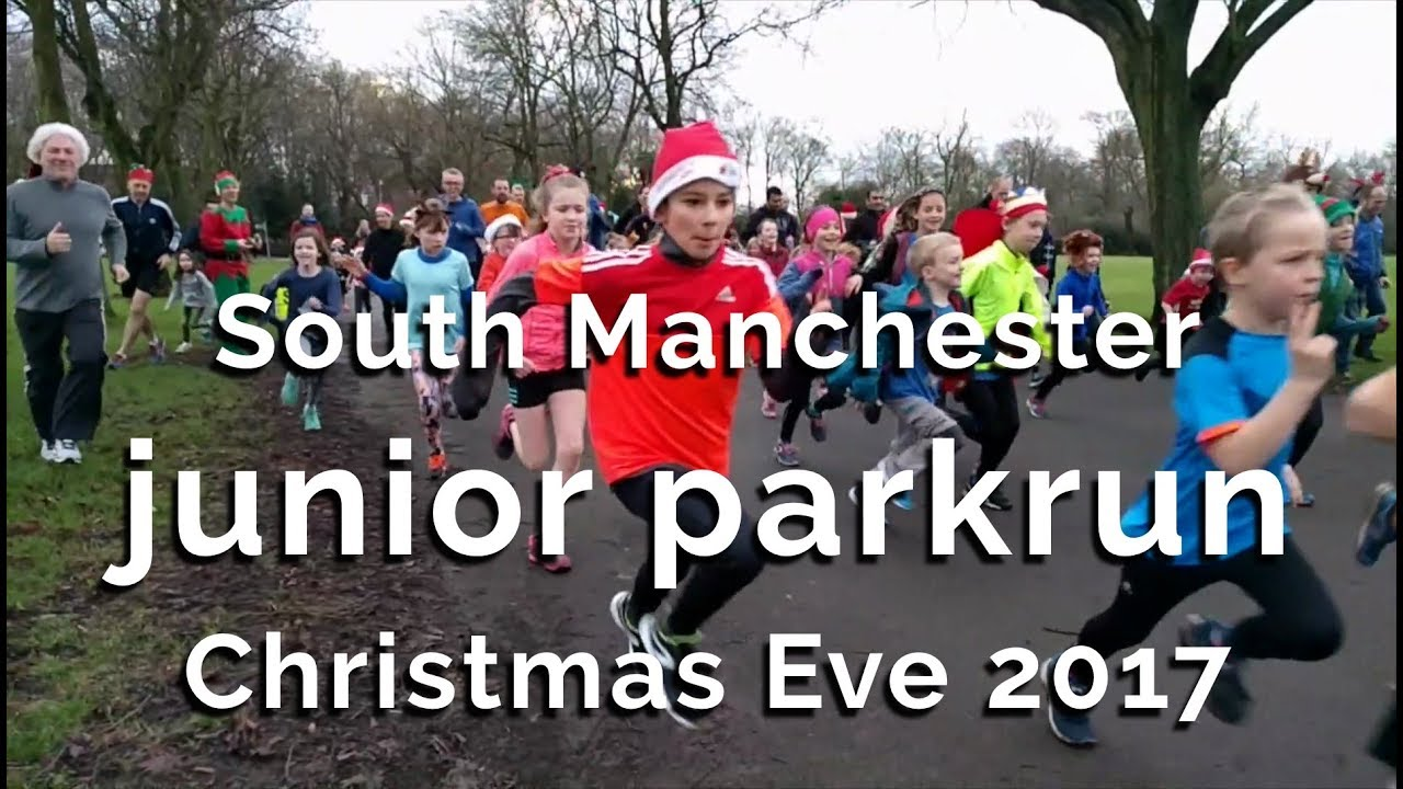Christmas Parkrun.South Manchester Junior Parkrun Christmas Eve 2017
