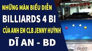 Những Màn Biểu Diễn Billiards 4 Bi Tại CLB JENNY HUỲNH Dĩ An - BD