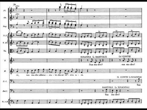 """Mozart, Nozze di Figaro - Sestetto N. 19 """"Riconosci in questo amplesso"""" (score)"""
