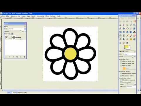 Crear gif animado con GIMP - Pétalos de colores