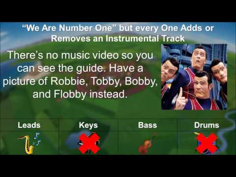 """""""We are Number One"""" but every One Adds or Removes an Instrumental Track"""