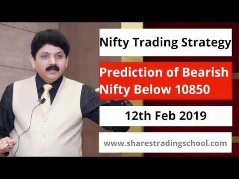 Nifty Prediction Bearish below 10850 on 12th Feb 2019(Post Market Analysis)