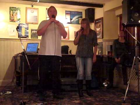 Crooked spire karaoke with Debbie and Lynne