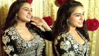 Saif Ali Khan DAUGHTER Sara Ali Khan At Ekta Kapoor Diwali Party 2017