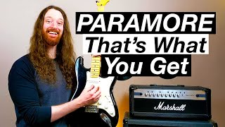That's What You Get by Paramore - Guitar Lesson & Tutorial
