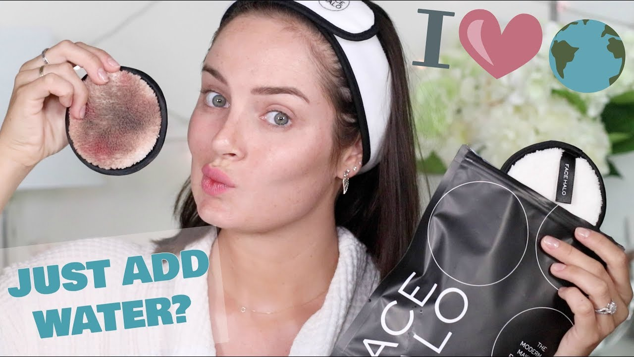 REMOVING MY MAKEUP WITHOUT MAKEUP REMOVER! The Face Halo!