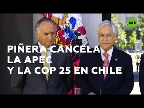 Piñera cancela dos cumbres internacionales en Chile