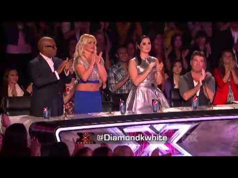 Diamond White - Because You Loved Me. The X Factor USA Top 11