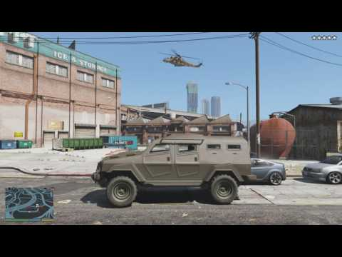 GTA 5 - Epic Five Star Chase (Escape From The Police Station + War With Army)