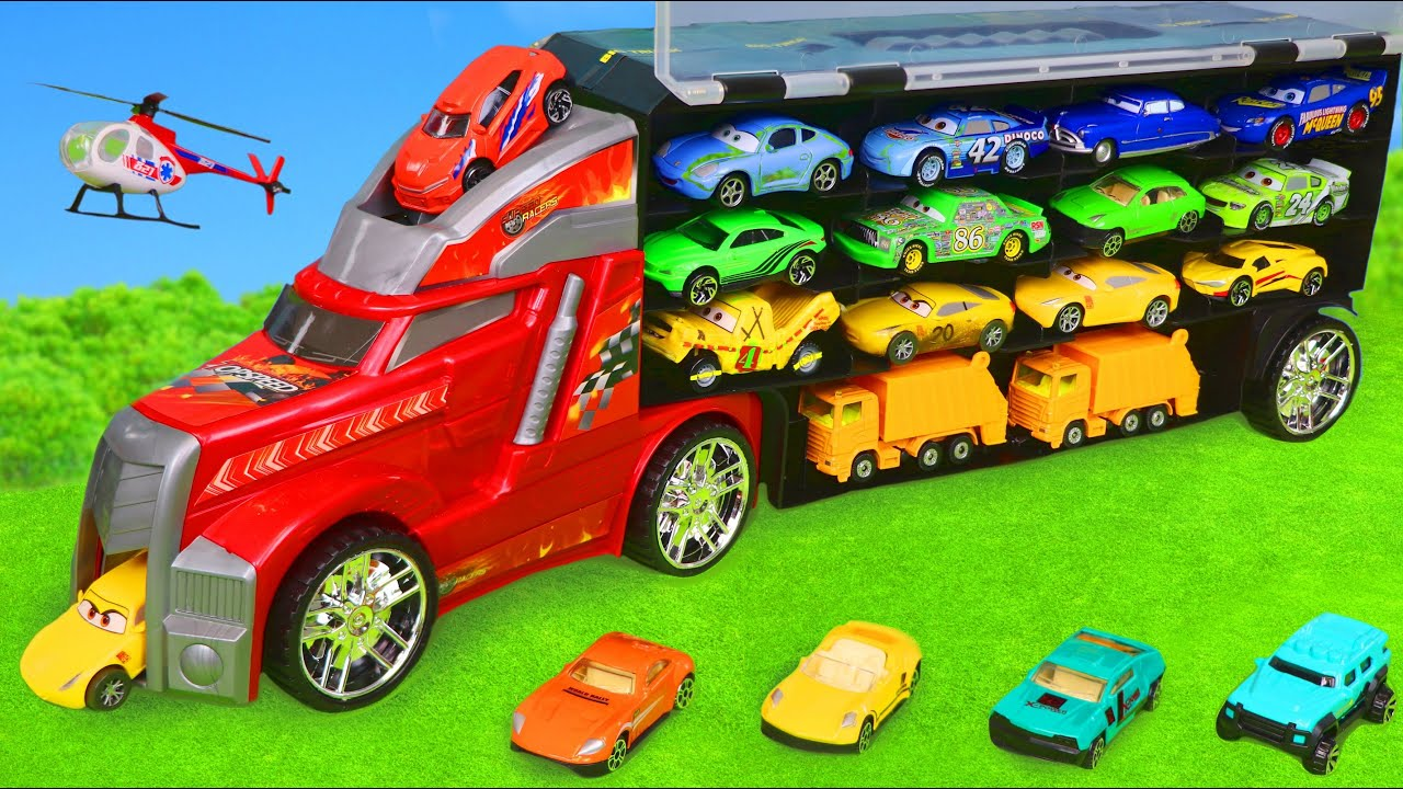 Download Ships, Cars, Garbage Trucks, Excavator, Fire Truck & Toy Vehicles for Kids
