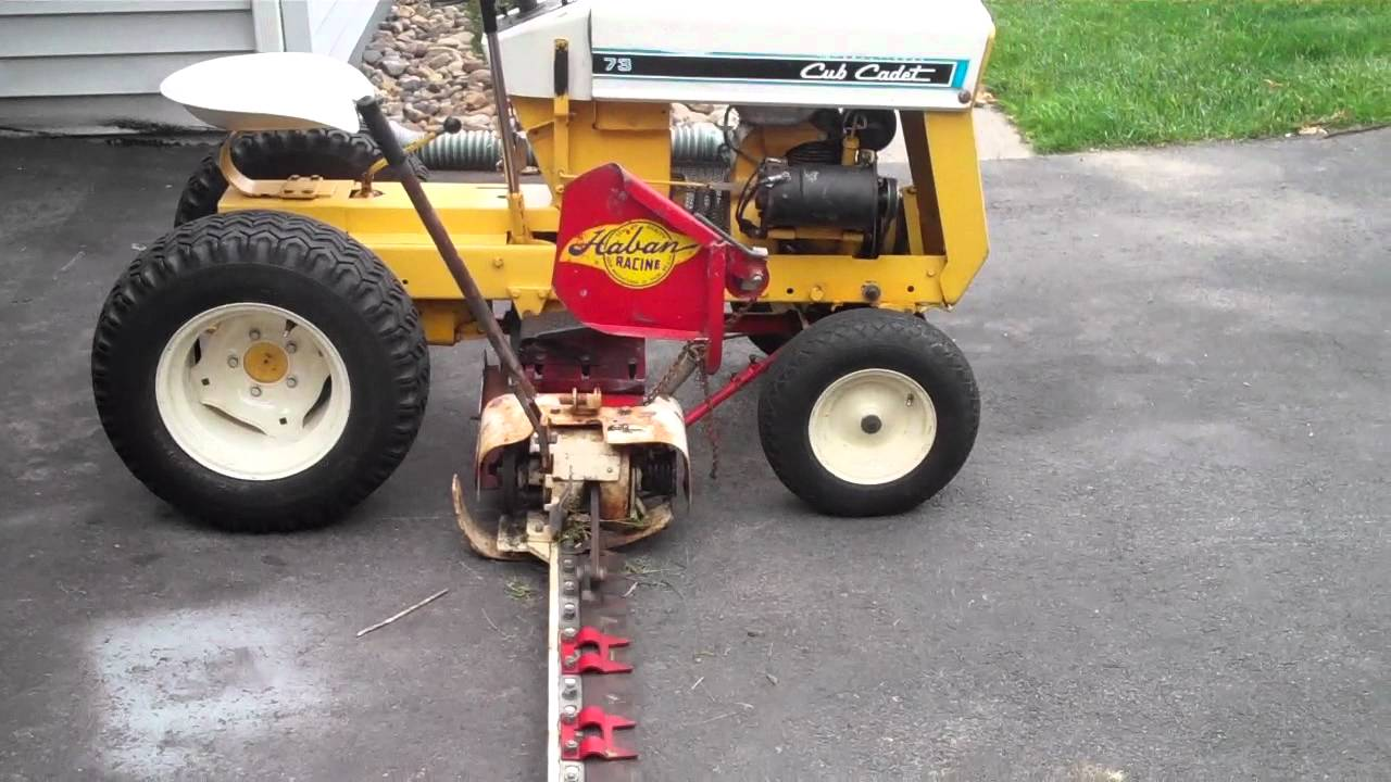 Cub cadet 73 w haban 402 d sickle doovi for Sickle mower for garden tractor