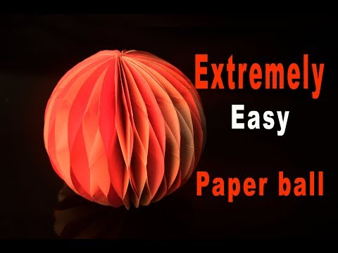 Make in minutes this paper honeycomb ball/ do it yourself