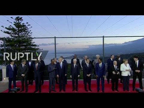 LIVE: G7 summit in Taormina, Sicily: day one afternoon