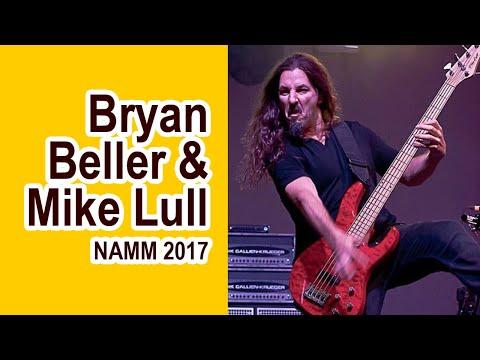 Mike Lull Custom Guitars With Bryan Beller At NAMM 2017 | MikesGigTV